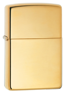 Brushed Brass Zippo Lighter